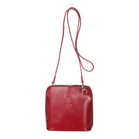 Giorgio Costa Red Polished Leather Shoulder Bag