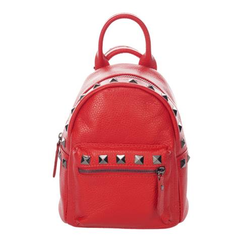 Massimo Castelli Red Stud Detail Backpack