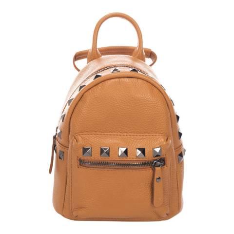 Massimo Castelli Cognac Stud Detail Backpack