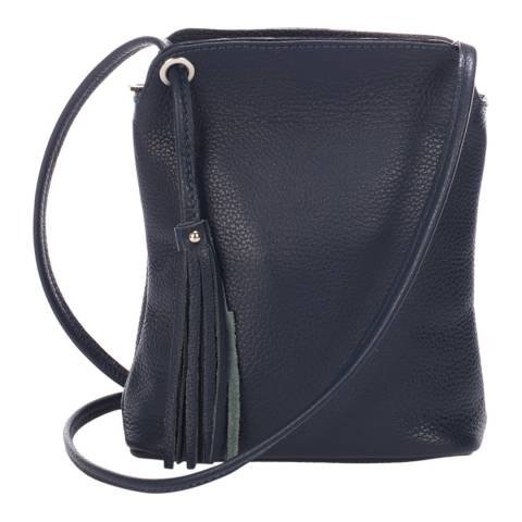 Massimo Castelli Navy Blue Tassel Crossbody Bag