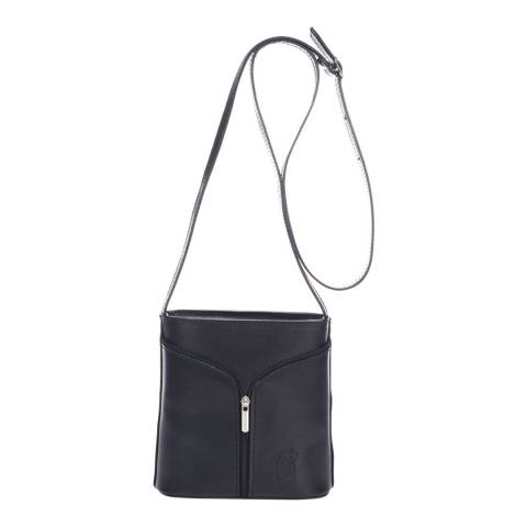 Giulia Massari Black Leather Crossbody Bag