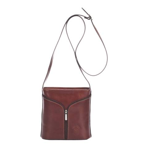 Giulia Massari Brown Leather Crossbody Bag
