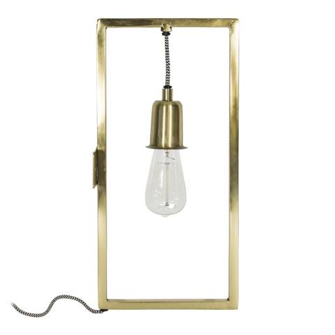 Happy Friday Brass Bell Wall Lamp
