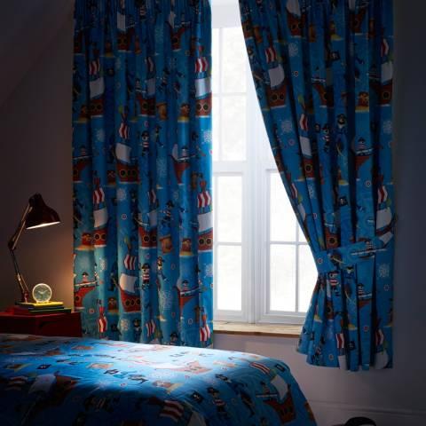 Kids Club Sea Pirates Blackout 168x137cm Curtains