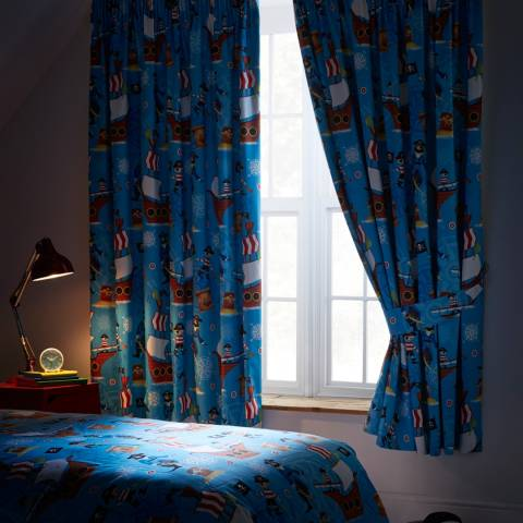 Kids Club Sea Pirates Blackout 168x183cm Curtains