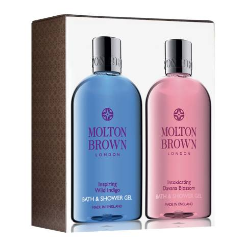 Molton Brown Wild Indigo & Davana Bath & Shower Gel Set WORTH £28