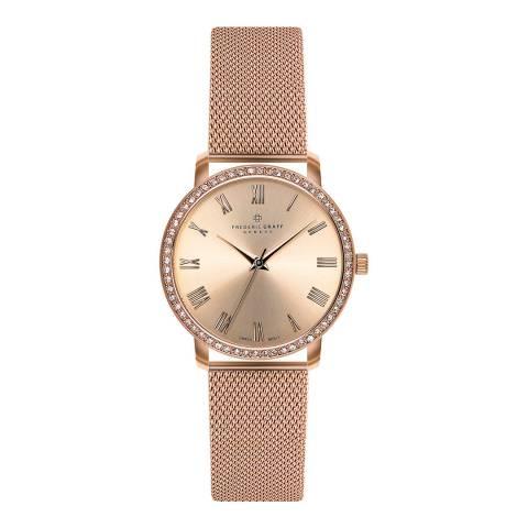 Frederic Graff Women's Rose Gold Ruinette Mesh Watch 36mm