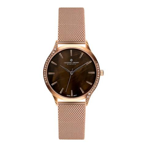 Frederic Graff Women's Rose Gold Basodino Mesh Watch 38mm