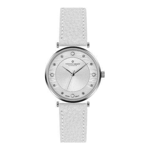 Frederic Graff Women's White Lychee Jungfrau Leather Watch 38mm