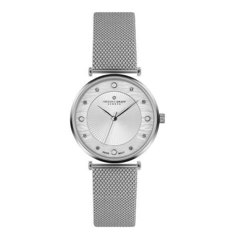 Frederic Graff Women's Silver Jungfrau Mesh Watch 38mm