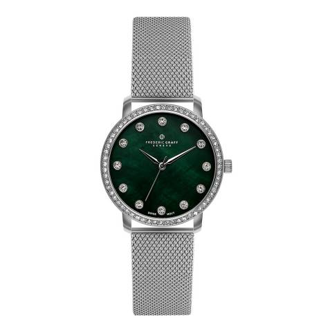 Frederic Graff Women's Silver Mont Gele Mesh Watch 36mm