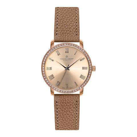 Frederic Graff Women's Cognac Ruinette Leather Watch 36mm