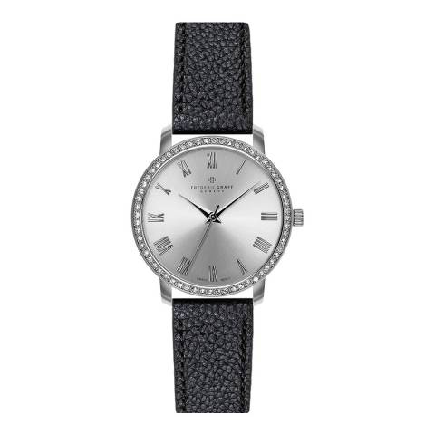 Frederic Graff Women's Black Ruinette Lychee Leather Watch 36mm