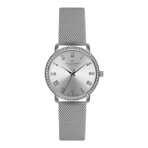 Frederic Graff Women's Silver Ruinette Mesh Watch 36mm