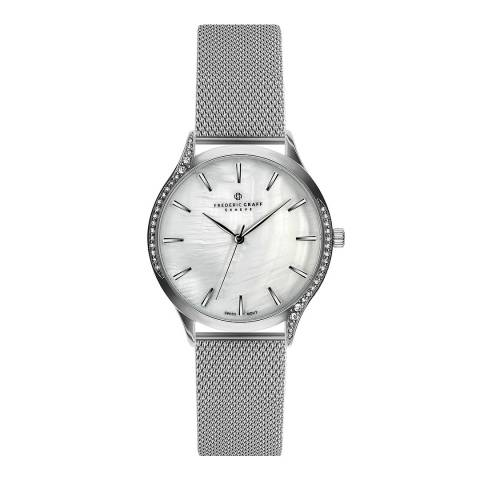 Frederic Graff Women's Silver Clariden Mesh Watch 36mm