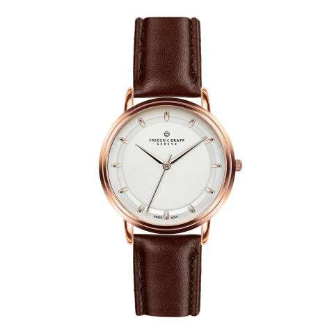 Frederic Graff Men's Dark Brown Matterhorn Leather Watch 40mm