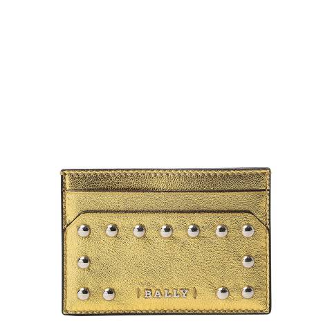 BALLY Gold Tigi Laminated Leather Cardholder