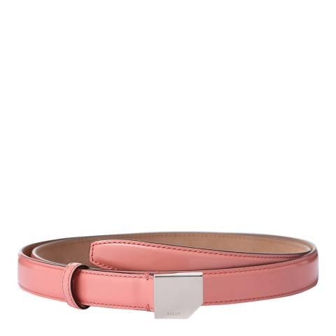 BALLY Flamingo Mosconi Leather Skinny Belt