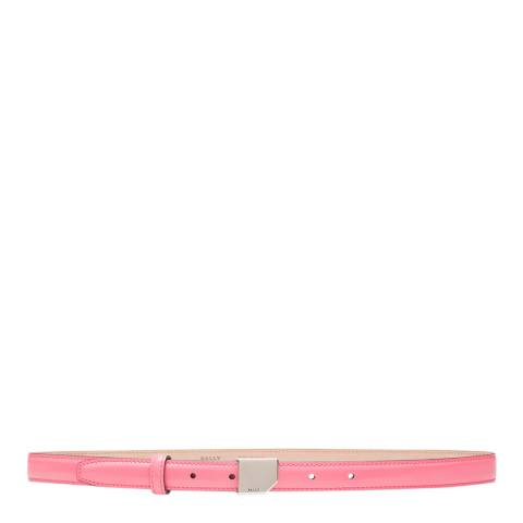BALLY Pink Mosconi Leather Skinny Belt