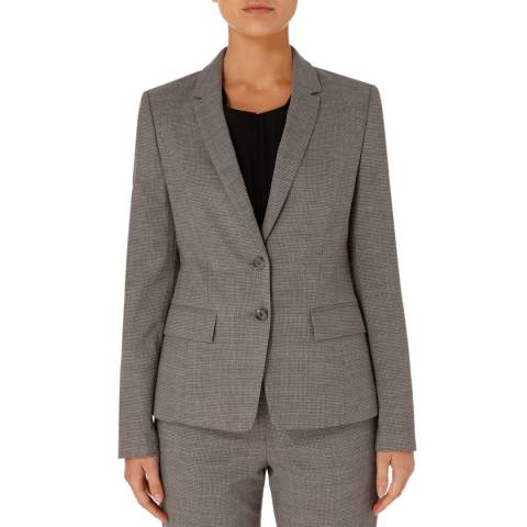 BOSS Grey Jewisa Wool Stretch Suit Jacket
