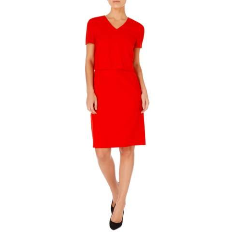 BOSS Red Demita Wool Stretch Dress