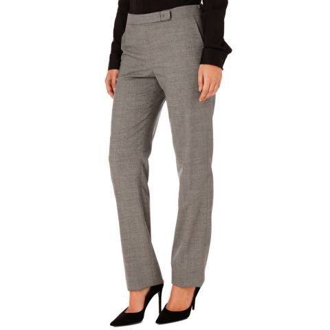 BOSS Grey Tafena Wool Stretch Suit Trousers