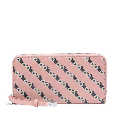 BOSS Pink Road Zip Around Leather Purse