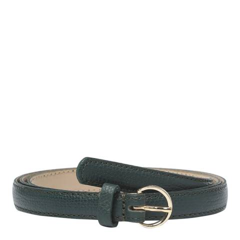 BOSS Dark Green Taylor Leather Belt