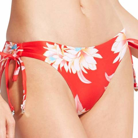 Seafolly Chilli Desert Flower Loop Tie Side Hipster