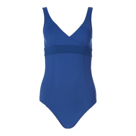 Seafolly French Blue Wrap Front Maillot