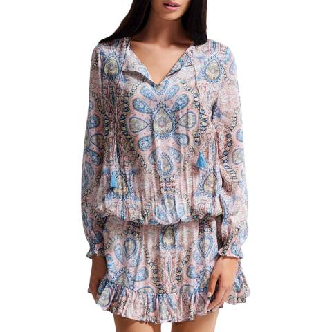 Milea By Seafolly Pink Chinoiserie Swing Dress