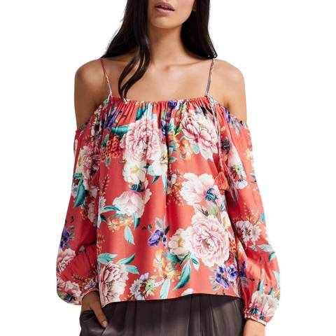 Milea By Seafolly Warm Spice Islands Off The Shoulder Top