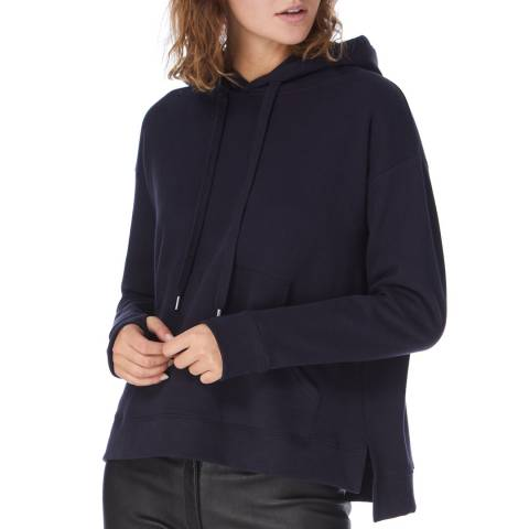 N°· Eleven Navy Cotton Hooded Sweatshirt