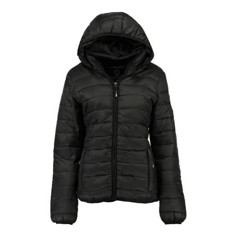 Geographical Norway Black Areca Hood Jacket