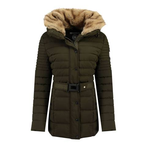 Geographical Norway Khaki Bellena Fur Parka