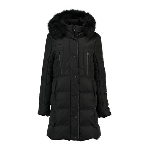 Geographical Norway Womens Black Diaz Parka Jacket