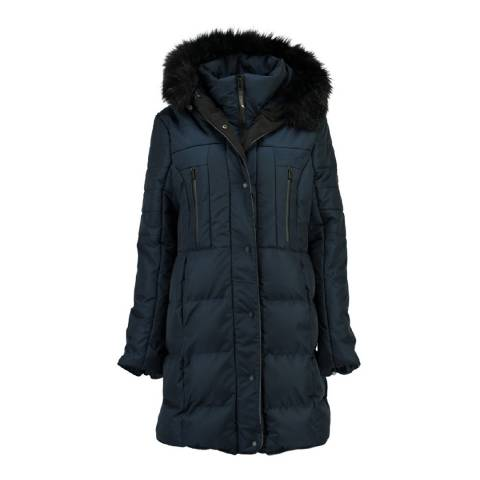 Geographical Norway Womens Navy Diaz Parka Jacket