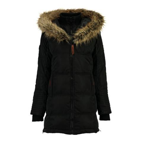 Geographical Norway Black Beautiful Parka