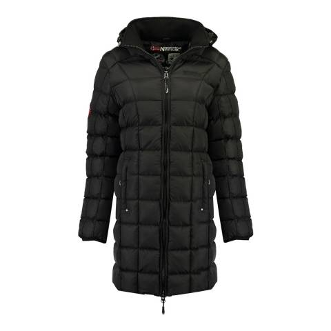 Geographical Norway Black Babette Long Jacket