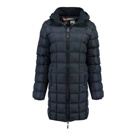 Geographical Norway Navy Babette Long Jacket