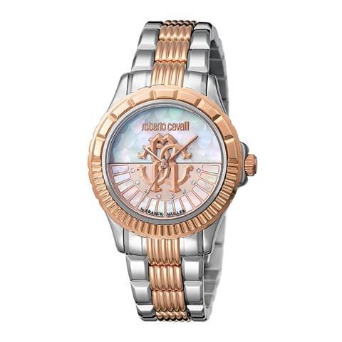 Roberto Cavalli White Mother Of Pearl Sapphire Ronda 763 Watch