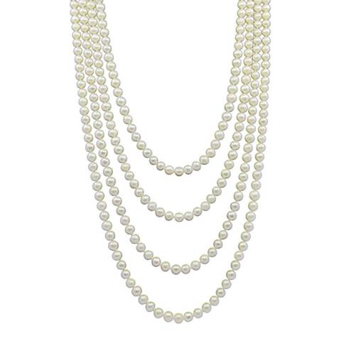 Liv Oliver Endless Long Pearl Necklace