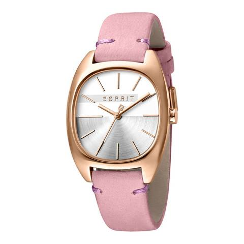 Esprit Silver Pink Calf Leather Watch