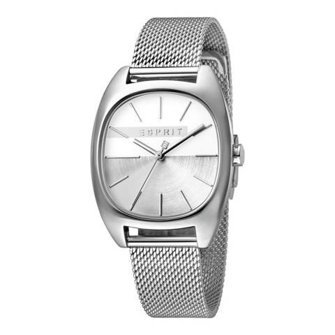 Esprit Silver Stainless Steel Mesh Watch
