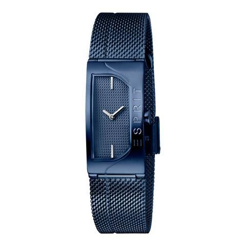 Esprit Dark Blue Stainless Steel Mesh, Ip Blue Color Plated Watch