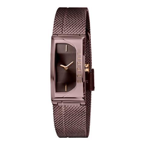 Esprit Brown Stainless Steel Mesh, Ip Brown Plated Watch