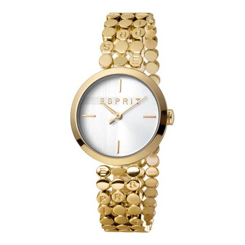 Esprit Silver Stainless Steel Gold Plated Watch