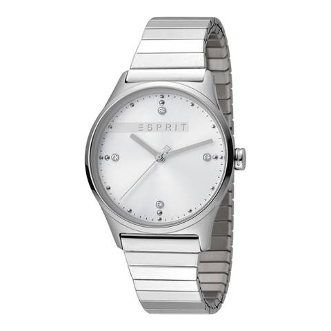 Esprit Silver Stainless Steel Expansion Watch