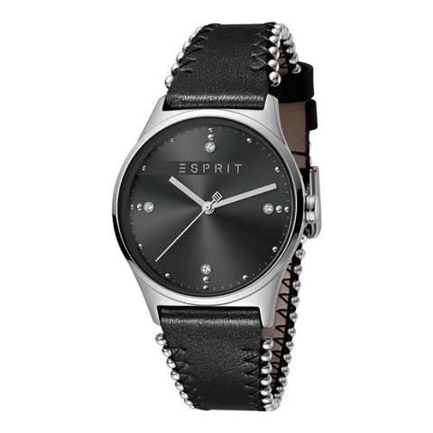 Esprit Black Black Calf Leather Watch