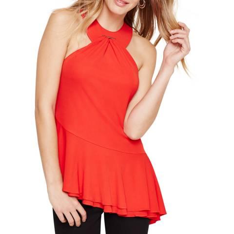 Damsel In A Dress Red Narissa Ruffle Top